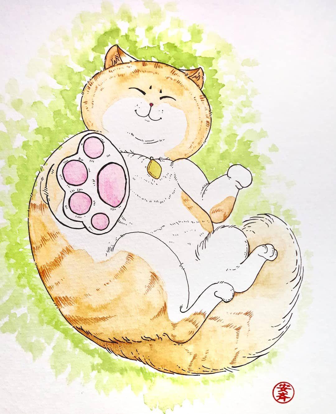 Watercolor Illustration Of A Kitten Desenhos E Ilustracoes