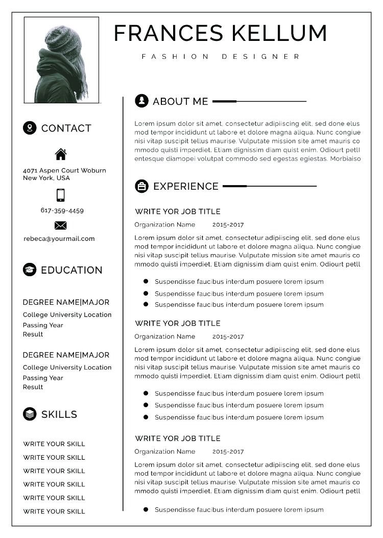 Business Resume Template Word Resume Template Instant Download Professional Resume Template
