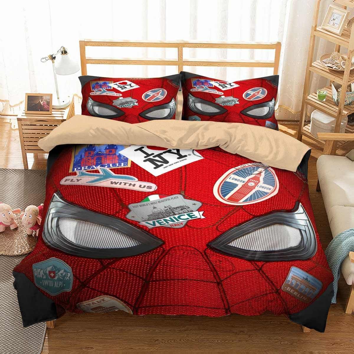 3d Customize Spider Man Far From Home Bedding Set Duvet Cover Set Bedroom Set Bedlinen Duvet Bedding Sets Duvet Cover Sets Custom Bed