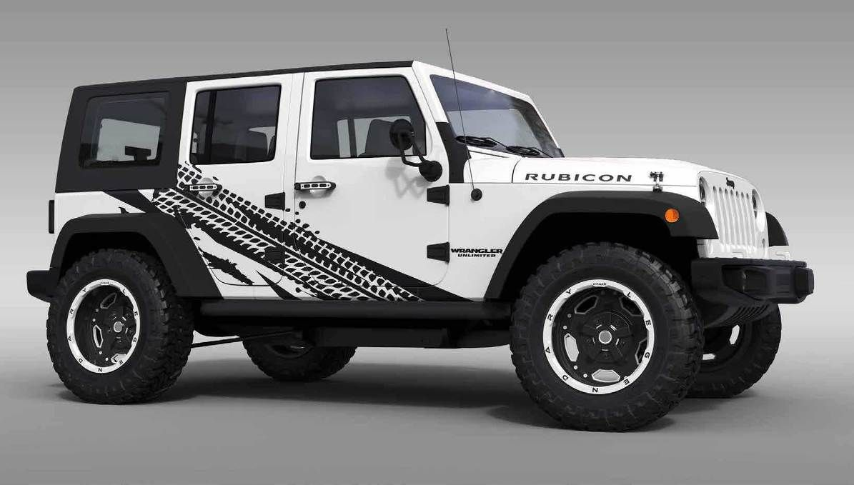 Product Tire Track Theme Splash Stars Graphic Decal For 07 17 Jeep Wrangler Unlimited Jk 4 Door Jeep Wrangler Unlimited Jeep Wrangler Jeep Wrangler Accessories