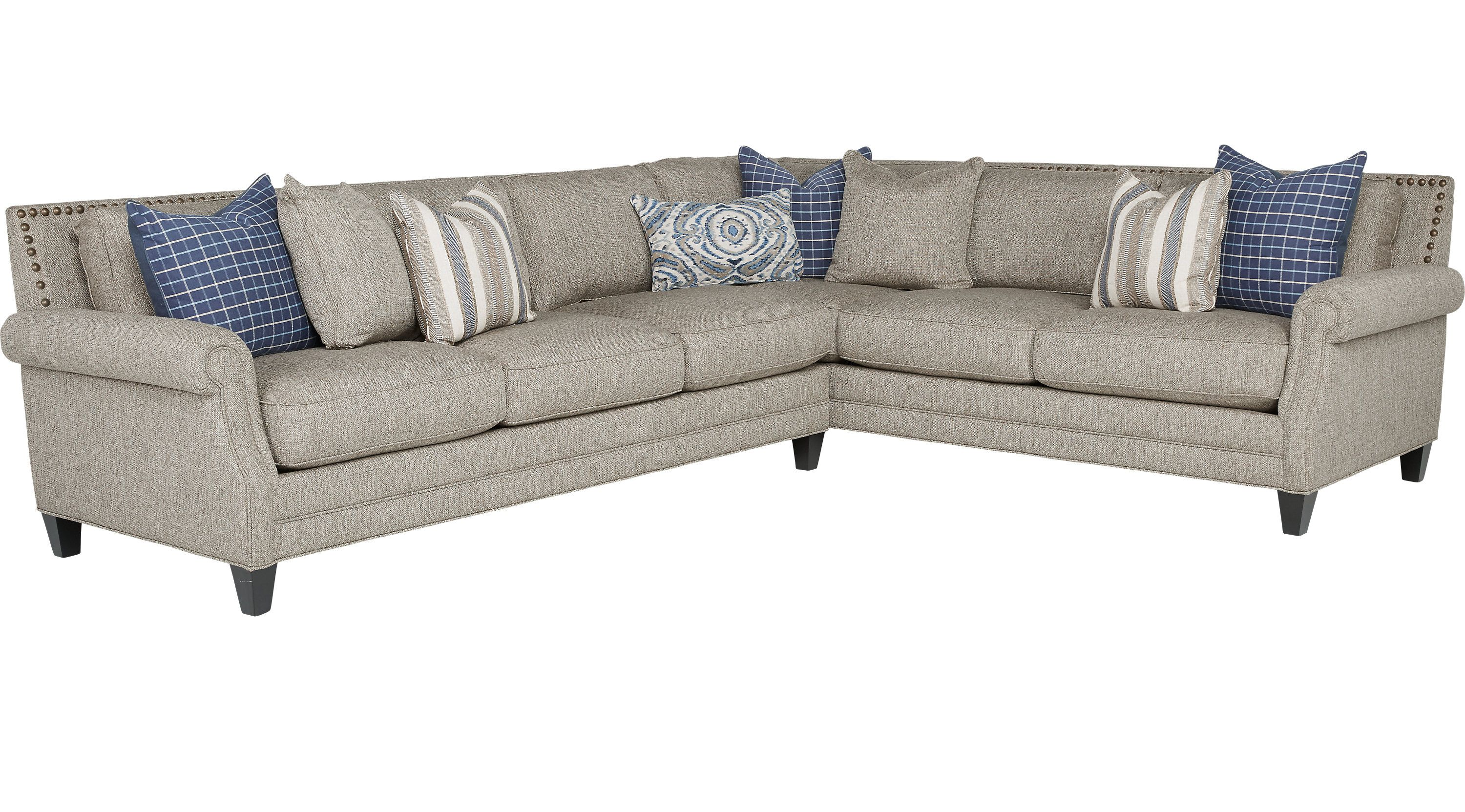 Living Room Sets Rooms To Go Piedmont Gray 2 Pc Sectional