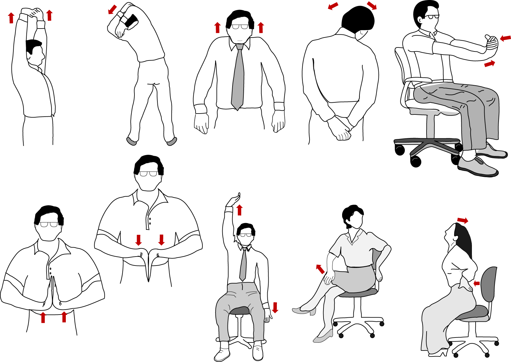 Office Exercises If You Have Trouble Staying Fit At Work These Are A Great Way To Keep Your Body Moving Right Desk