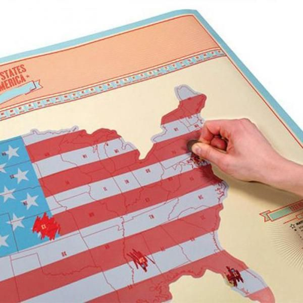 USA Scratch Map Travel Poster! A MUST for Your American Adventure ...