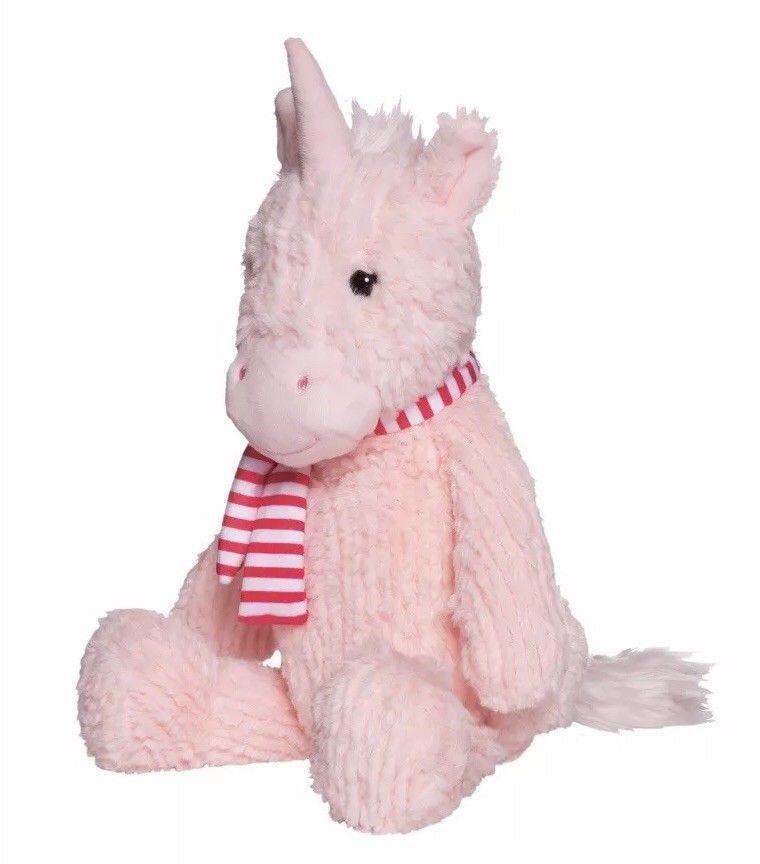 "Manhattan Toy Adorables Petals Pink Unicorn Plush 12/"""