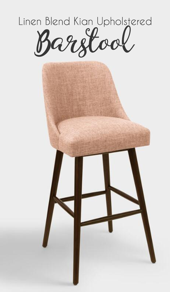Boasting a mid century modern clean lined profile our custom made barstool