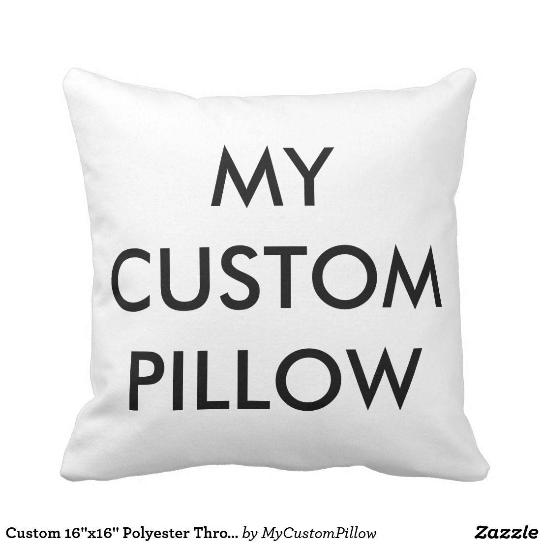 Custom 16x16 polyester throw pillow template zazzle