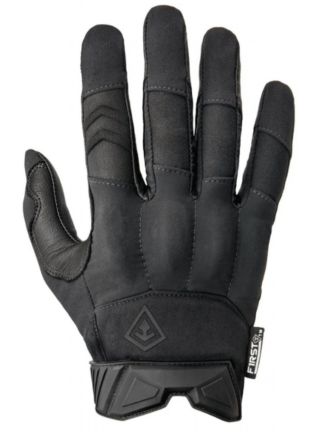1Pair Leather TouchScreen Rubber Hard Knuckle Full Finger Gloves Motorcycle M//XL