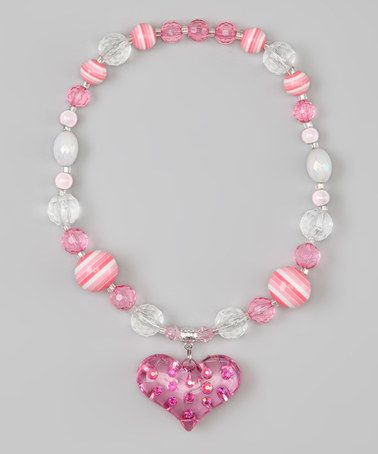 Take a look at this Pink Bubble Heart Bead Necklace by Sunnyz Dezignz on #zulily today!
