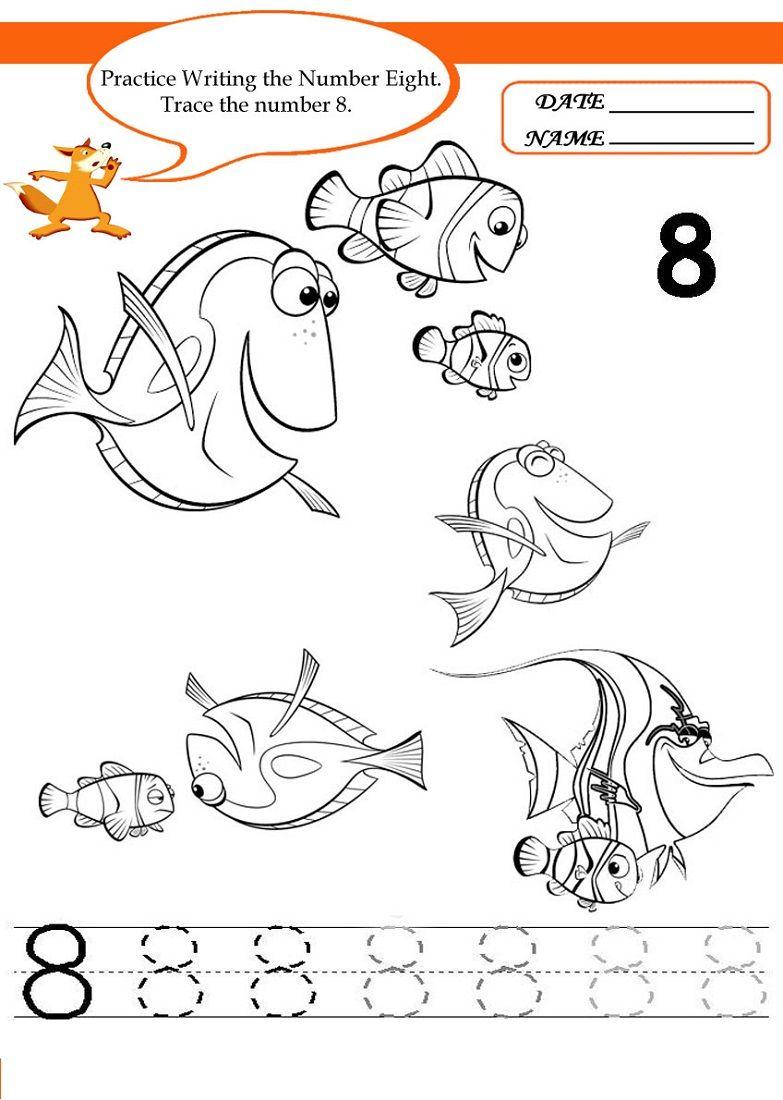 Number 8 Worksheets Printable Writing Numbers Number Worksheets School Coloring Pages