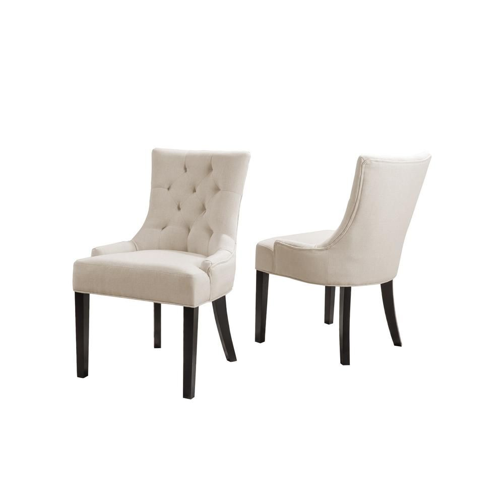 Noble House Hayden Beige Fabric Dining Chair Set Of 2 Fabric Dining Chairs Dining Chairs Dinning Room Chairs