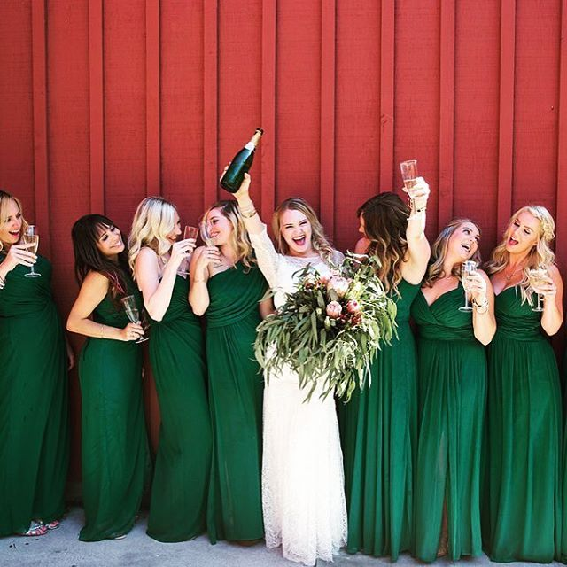Love The Long Forest Green Bridesmaid Dresses Too Bridesmaids Wedd Forest Green Bridesmaid Dresses Long Green Bridesmaid Dresses Green Bridesmaid Dress Fall