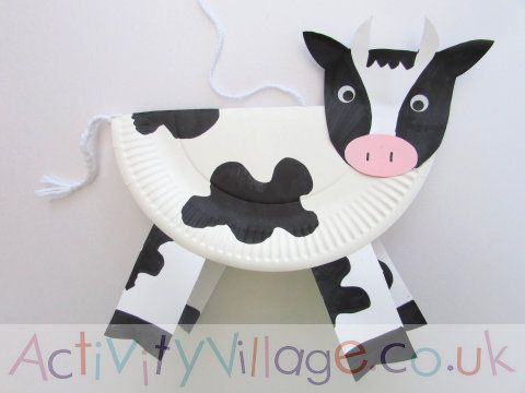 Paper Plate Cow Paper Plate Art In 2018