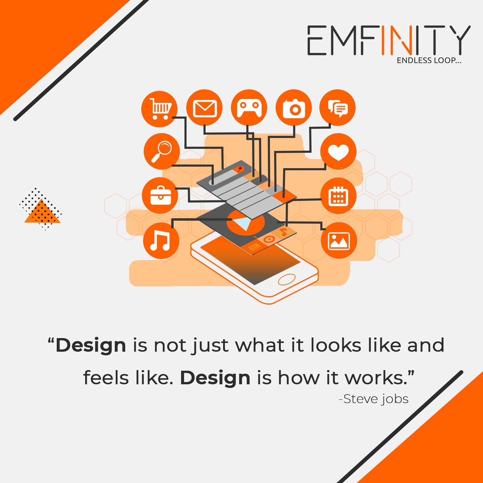 Emfinity It Solutions Is An Online Leading Web Design Web Development Digital Marketing Mobile A Corporate Identity Design App Development Digital Marketing