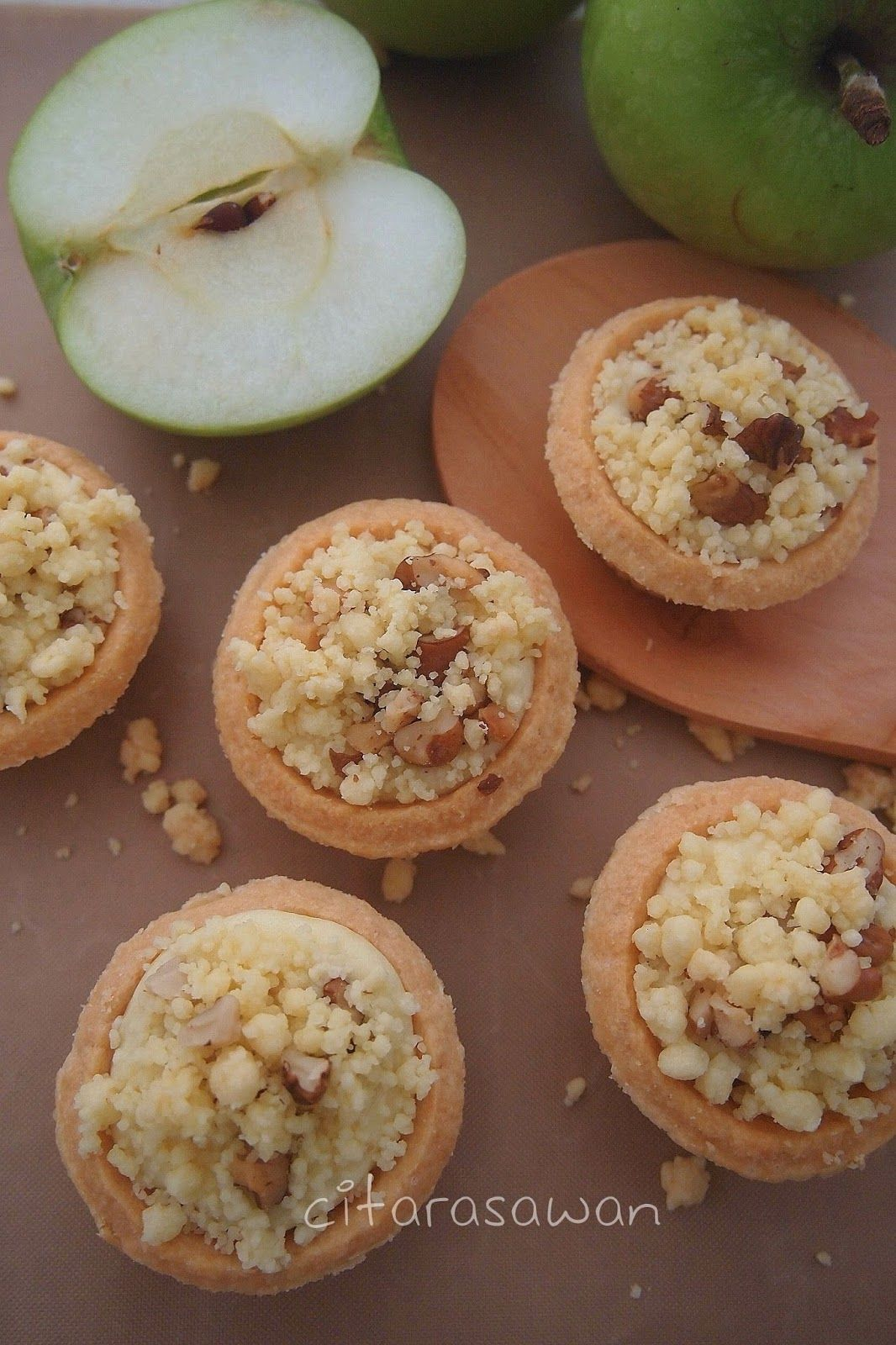 Apple Crumble Cheese Tart Recipes Resep Makanan Tar Makanan Dan Minuman