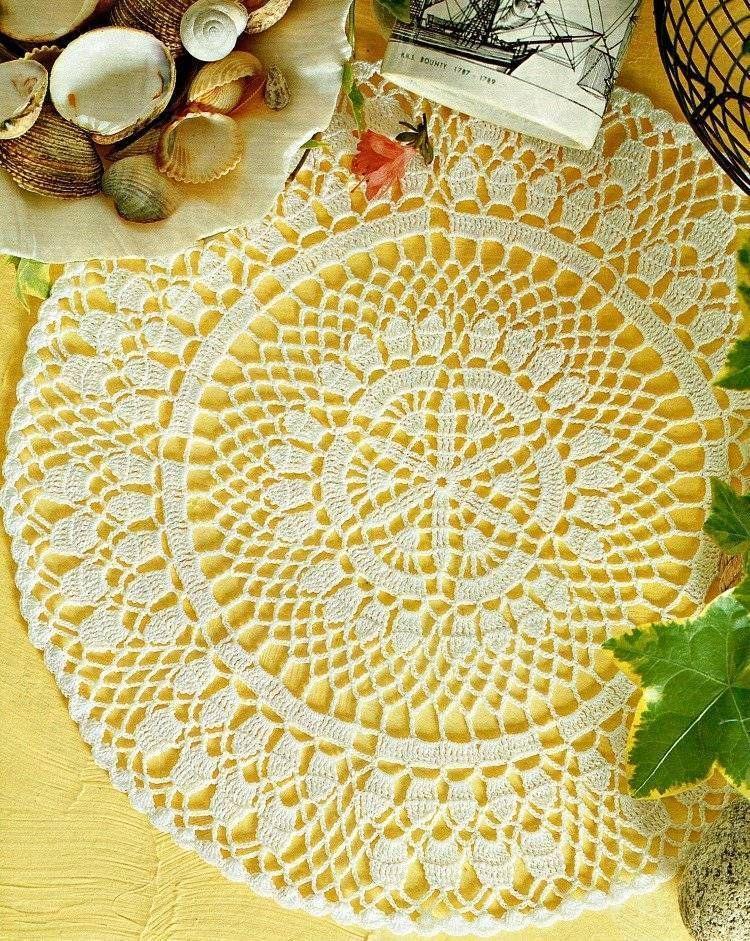 Elegant Round Doily Crochet Pattern Instructions Decorativecrochet