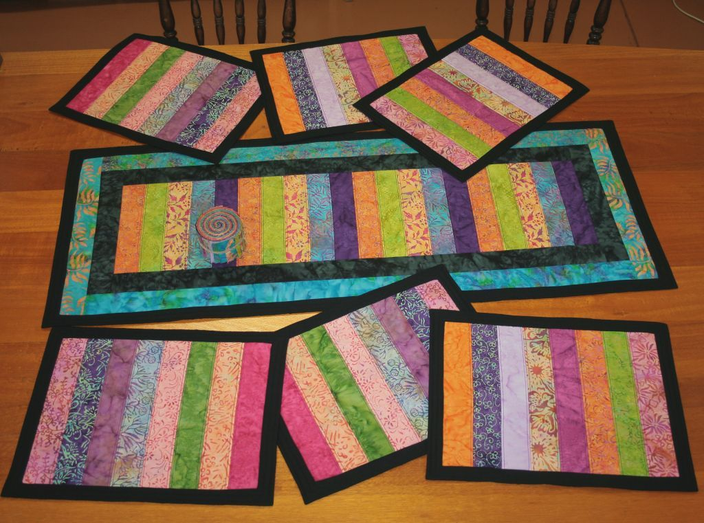 Free patterns quilted placemats patterns quilted for 10 minute table runner placemats