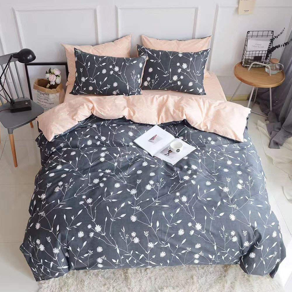 PinkMemory Queen Duvet Cover Cotton Bedding Set Bedding