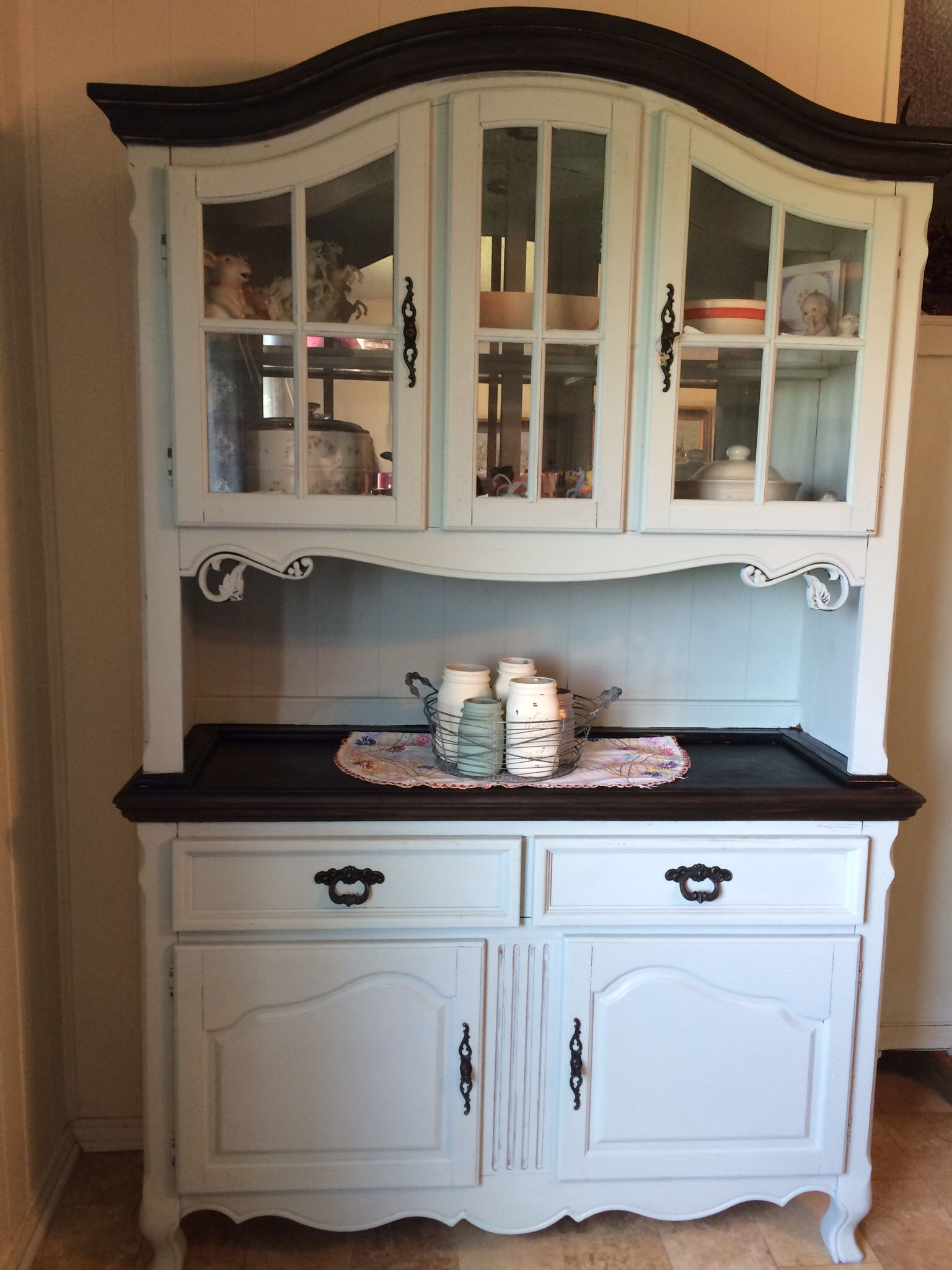 China hutch after. Painted using CeCe Caldwell chalk paint I ...