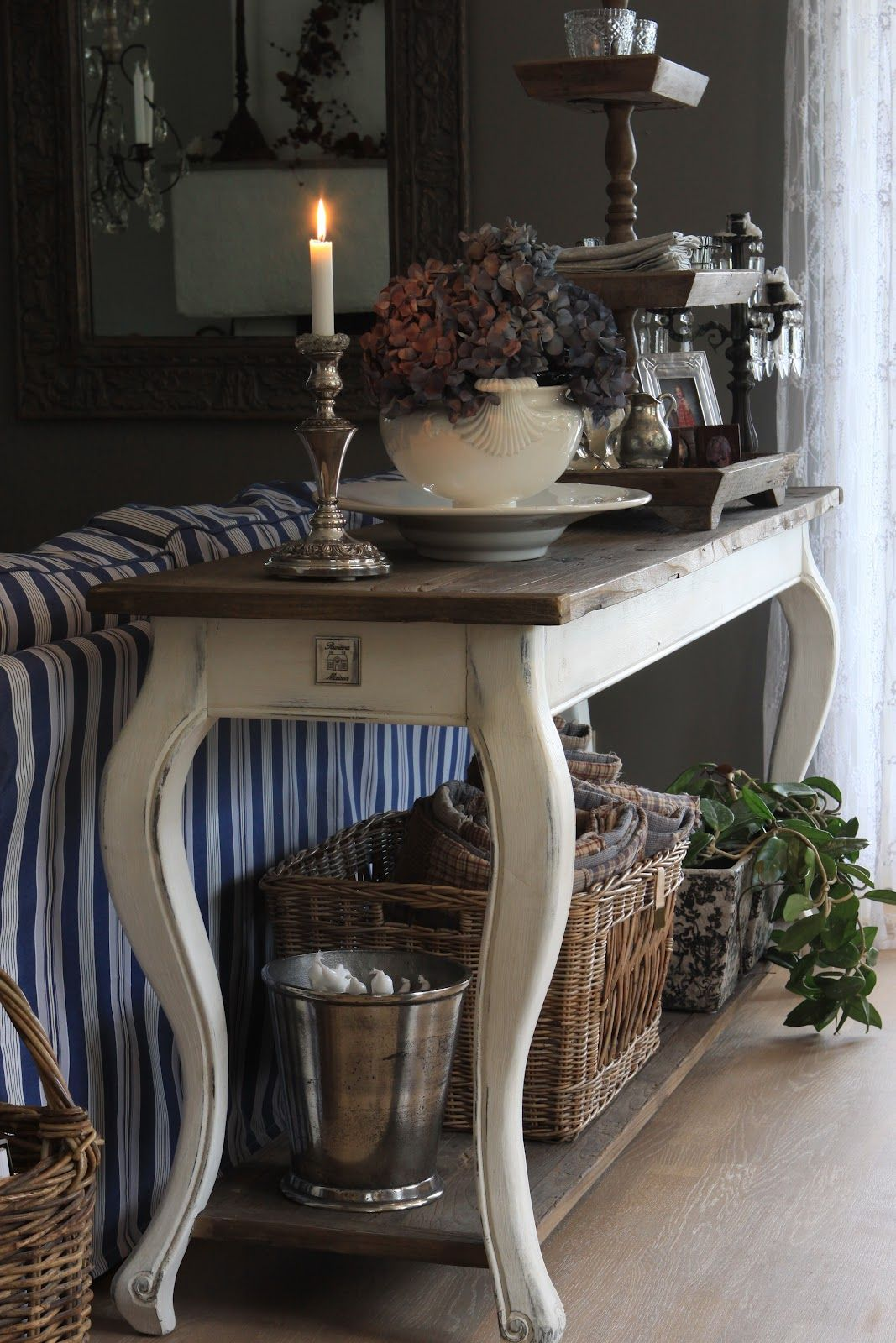 The sofa table vignette is beautiful as well sofa table