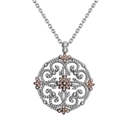 Ornate and elegant diamond #Fana pendant with touches of
