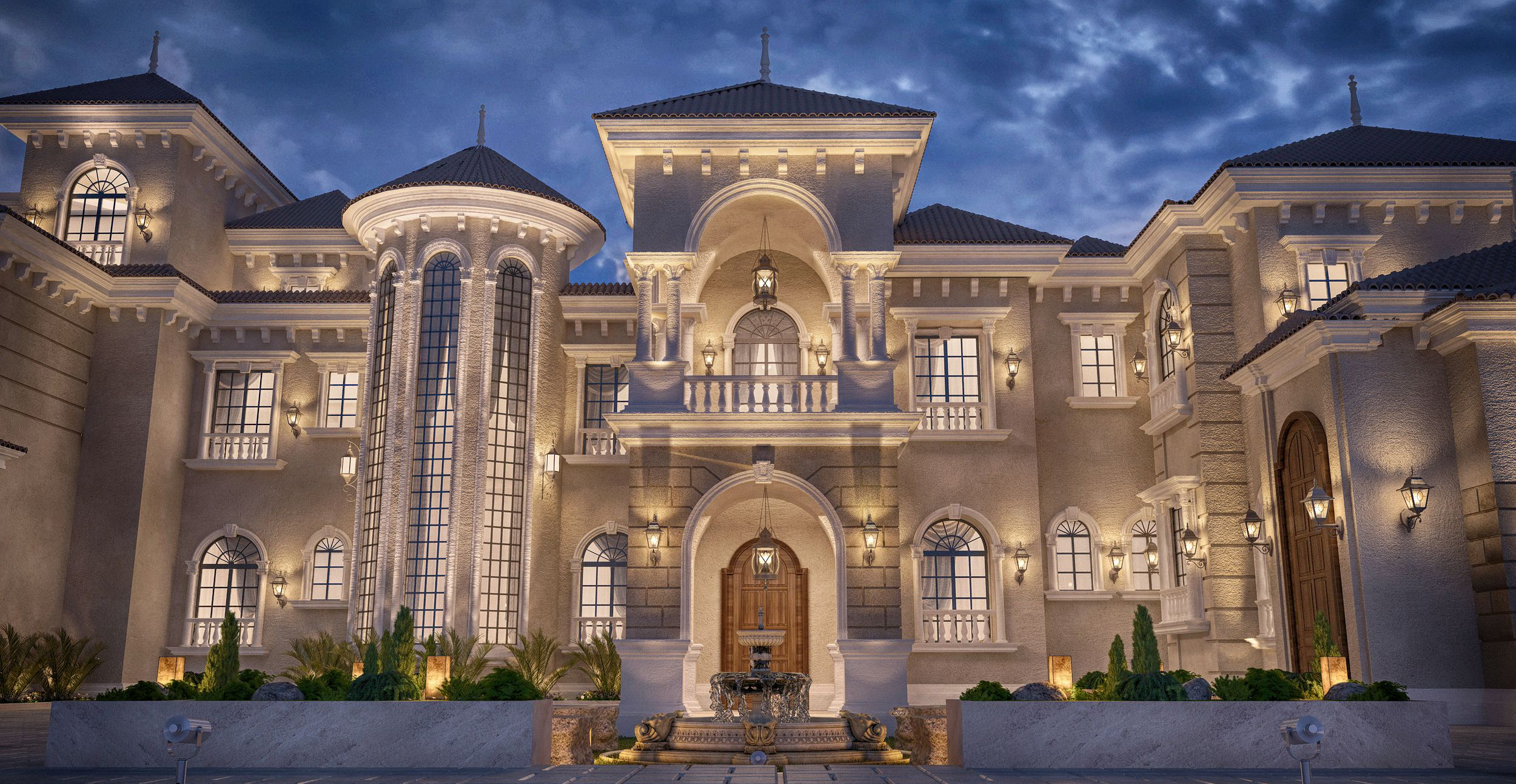 Private Palace Design At Doha Qatar Mansions Estates And