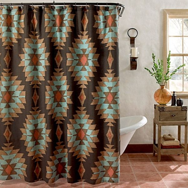 Southwest Shower Curtains For The Home Southwestern Decorating Western Home Decor Southwest Shower Curtain