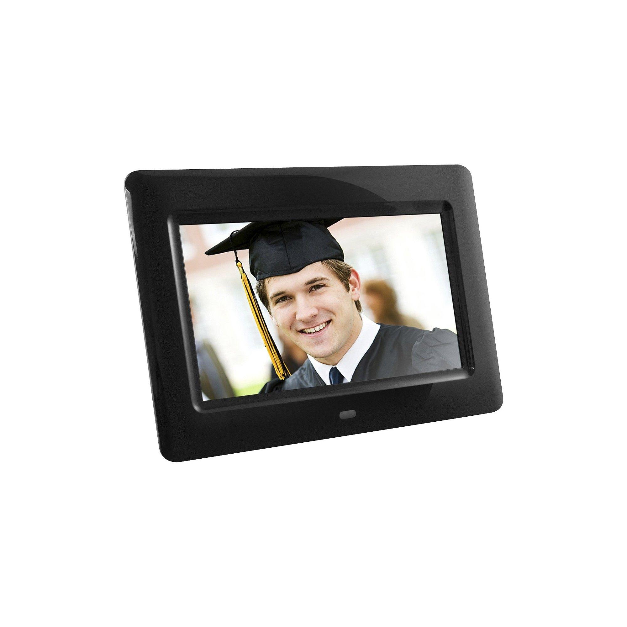 Aluratek 7 Lcd Digital Photo Frame - Black (ADPF07SF) | Digital ...
