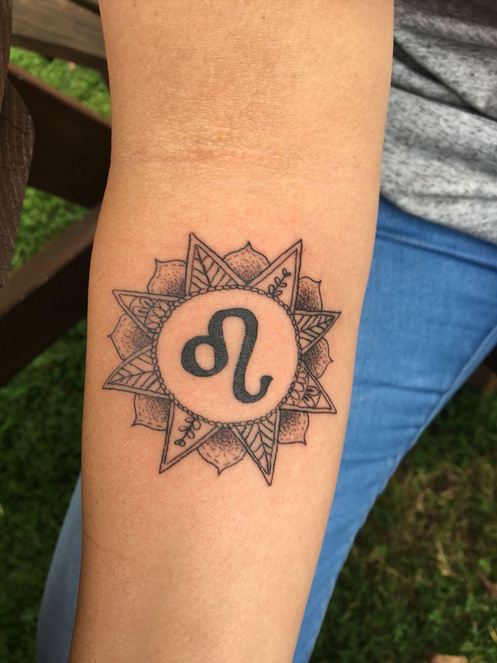 Mandala Zodiac Leo Sun Tattoo Tattoos Leo Tattoos Tattoos