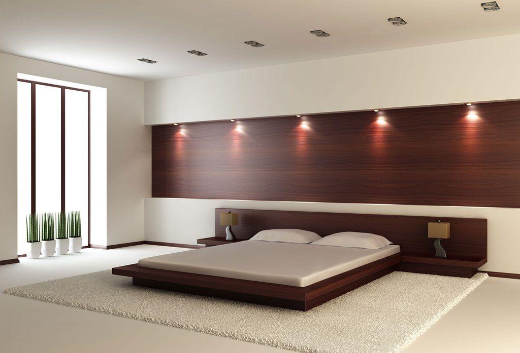King Size Modern Platform Bed Contemporary Bedroom Design
