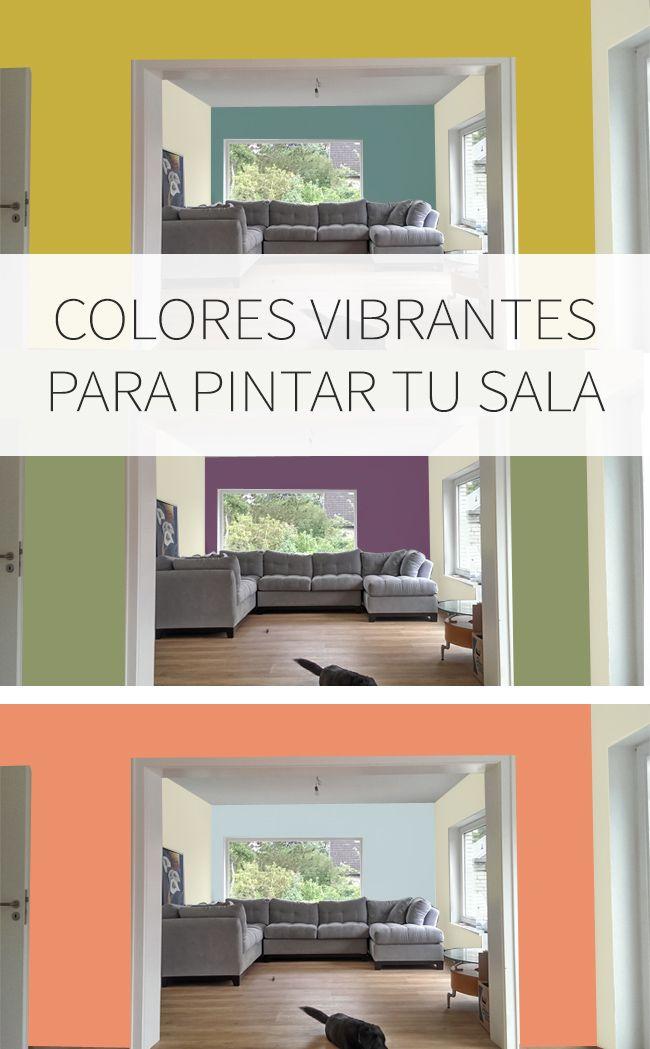 Paletas de colores para tu sala de estar