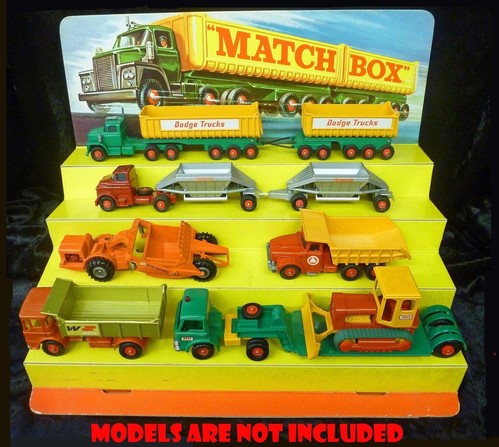 Lesney Matchbox Countertop Card Shop Display King Size