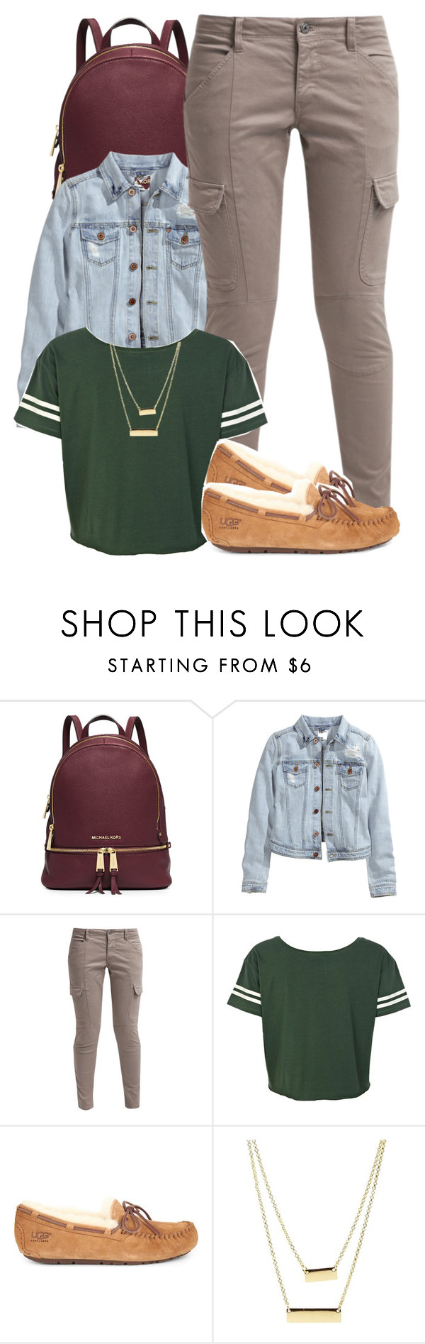 """"" by society-is-ugly ❤ liked on Polyvore featuring MICHAEL Michael Kors, H&M, School Rag, River Island, UGG Australia e Charlotte Russe"