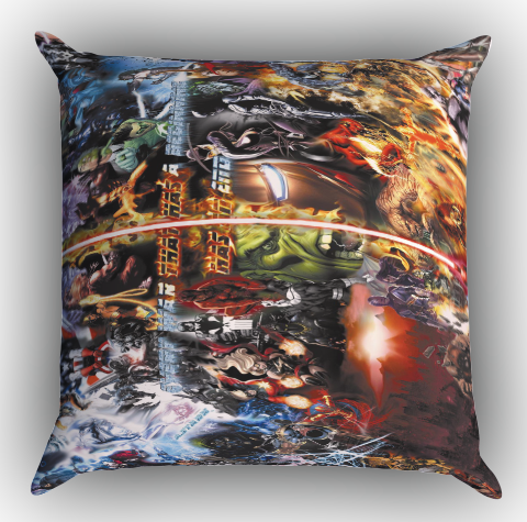 dc vs marvel cartoon Z0881 Zippered Pillows Covers 16x16, 18x18, 20x20 Inches