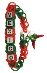 Mexico Rainbow Loop Bracelet! Wear these at your thinking day event! Get the kit on MakingFriends.com