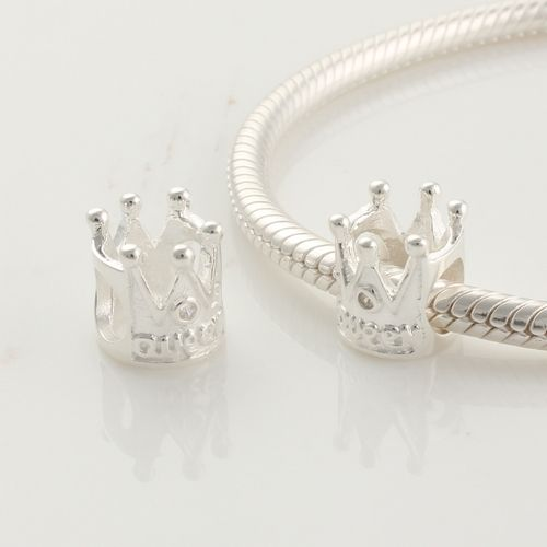 CLFJ195 925 Sterling Silver Crown Pandora Charms beads Jewelry. See more : www.clbracelet.com