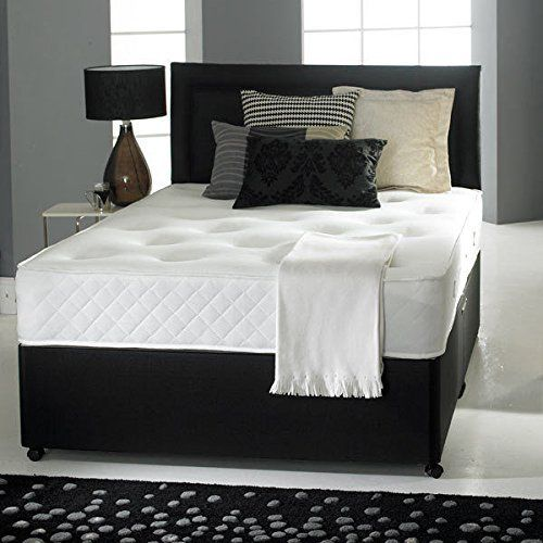Tremendous Divan Bed With Ortho Mattress Headboard And 2 Drawers 4Ft Andrewgaddart Wooden Chair Designs For Living Room Andrewgaddartcom