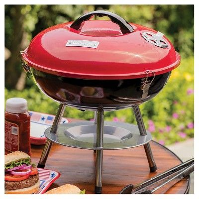 Delicieux Cuisinart 14 Portable Charcoal Grill   Red   Red