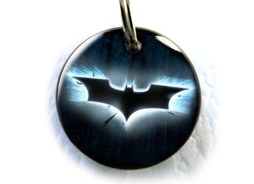 Superheroes Bat dog bat cat pet id tag Blue >>> For more information, visit image link.