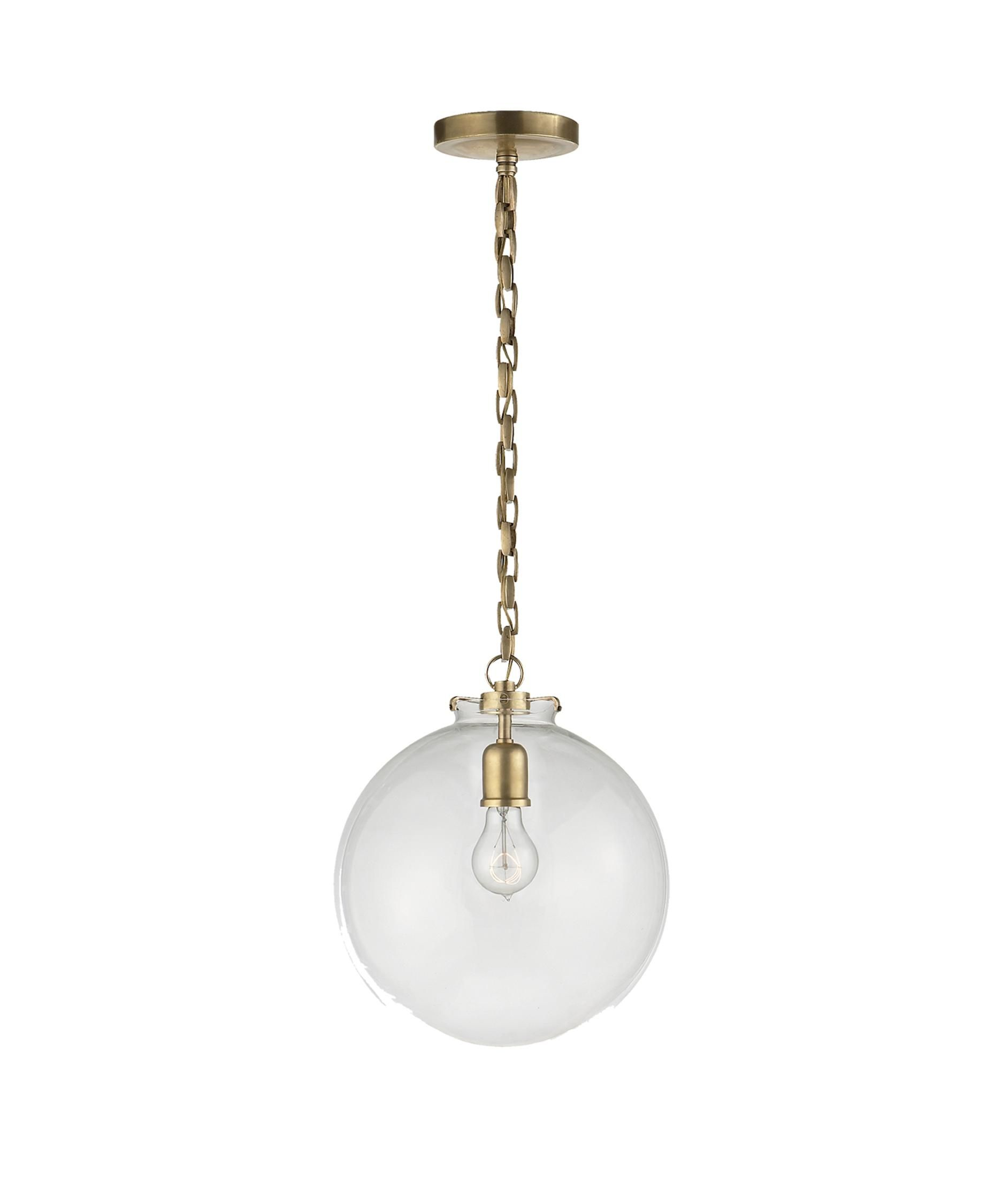 Thomas O Brien Katie 12 Inch Mini Pendant By Visual Comfort And Co Glass Globe Pendant Globe Pendant Acorn Pendant