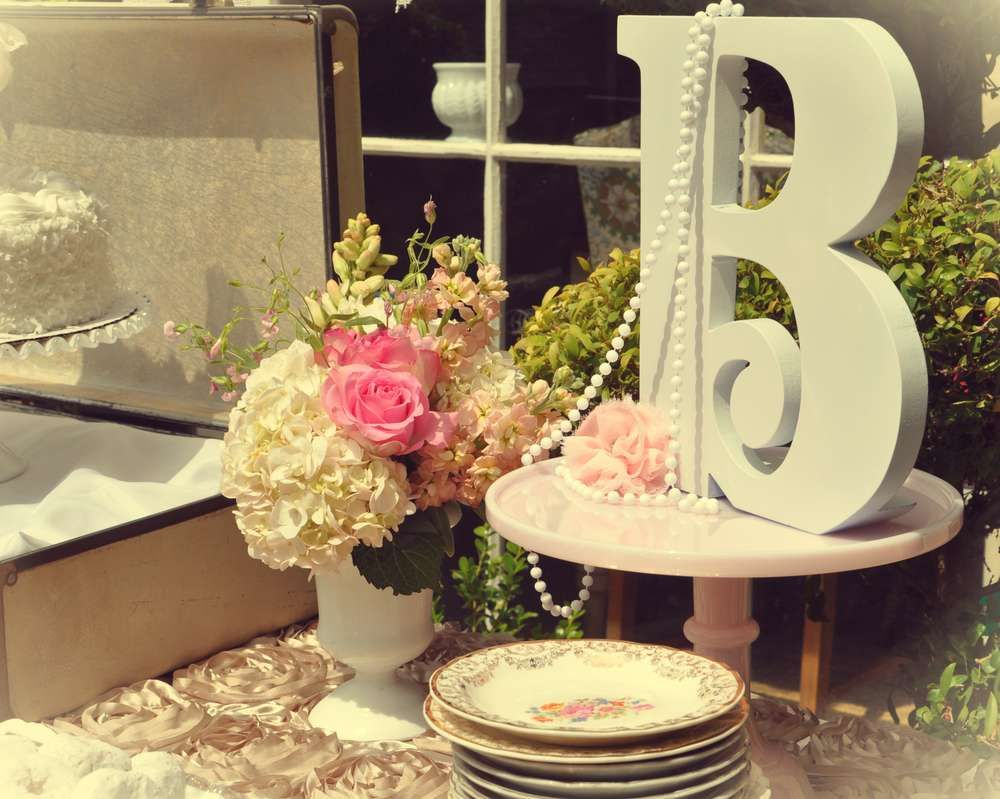 vintage tea party bridalwedding shower party ideas photo 2 of 18