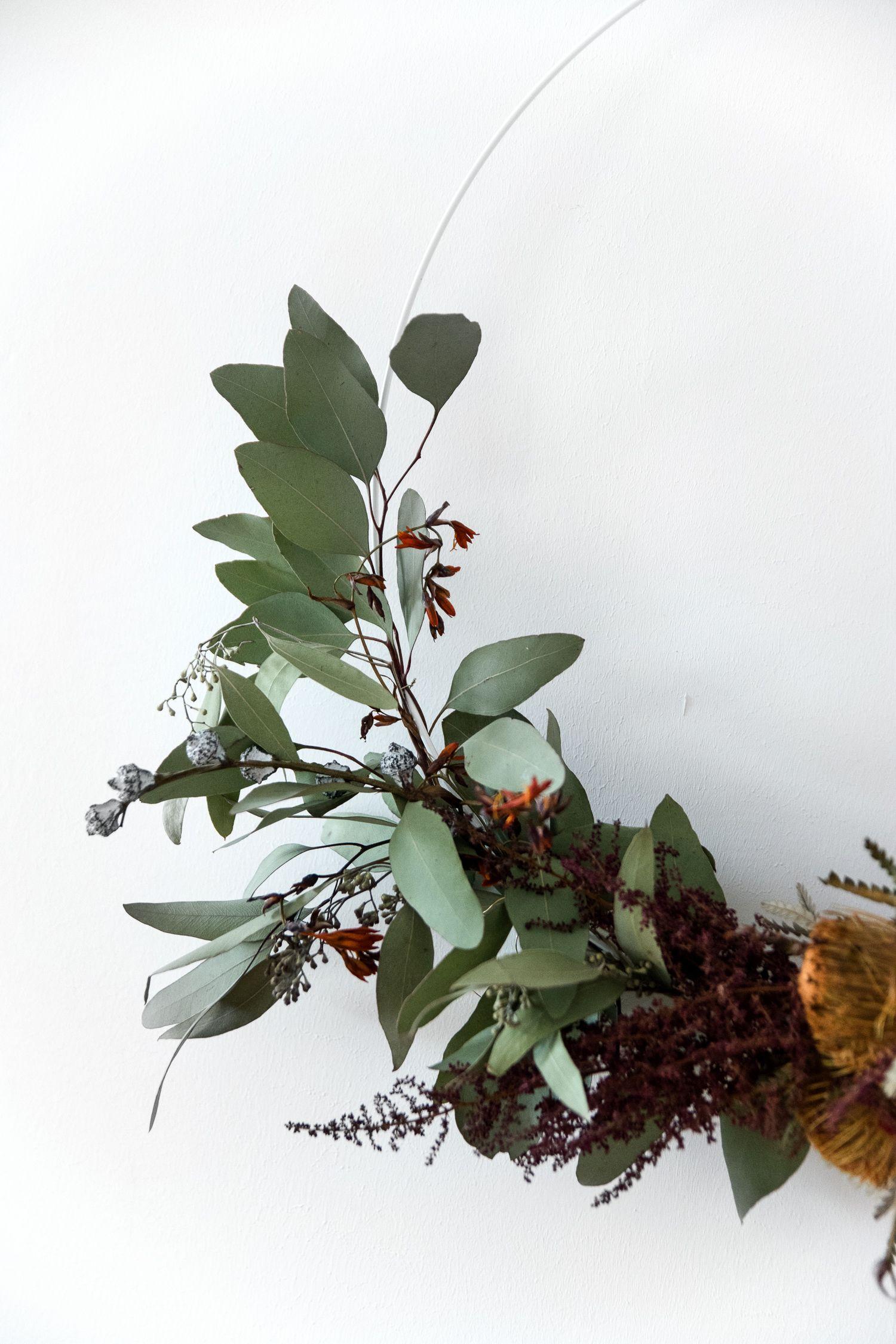 Der Restekranz  Vom Blumenstrau Zum Selbstgemachten Herbstkranz - Christmas