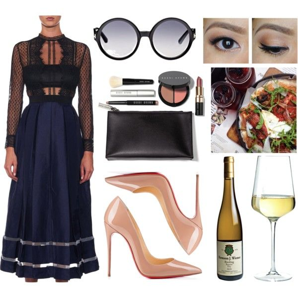 Sans titre #493 by mariilouw on Polyvore featuring self-portrait, Christian Louboutin, Tom Ford and Bobbi Brown Cosmetics