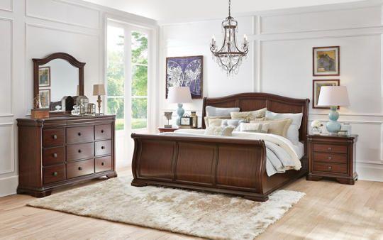 Rochelle Queen Sleigh Bed - Art Van Furniture Happy Holiday Home