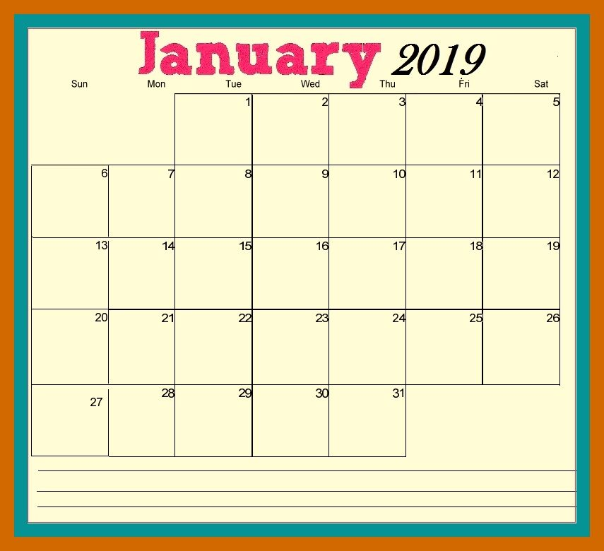 January 2019 Calendar With Holidays India 101+ Free January 2019