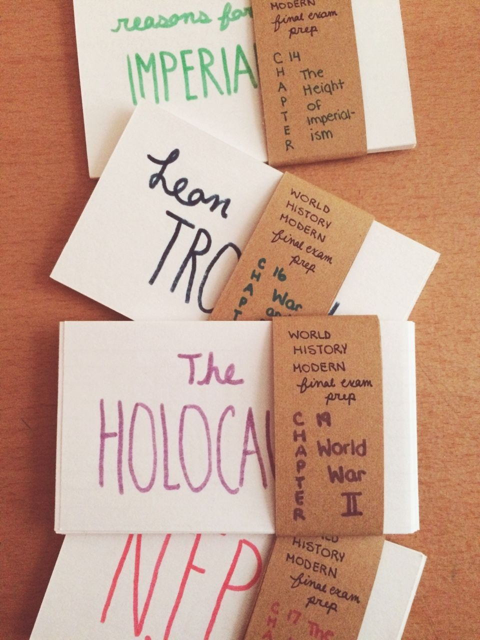 Cluster Group Note Cards By Topic Class Test To Make Studying Easier And Prevent Wasted Time