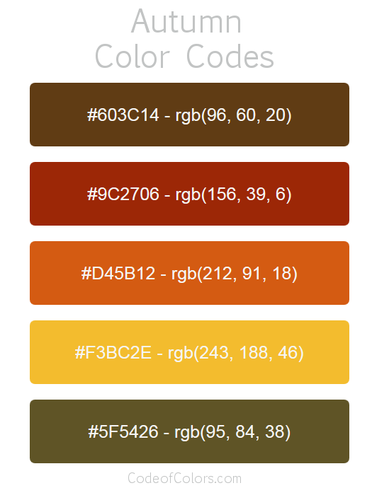 Autumn Color Palette And Scheme In 2020 Fall Color Palette Vintage Colour Palette Fall Colors