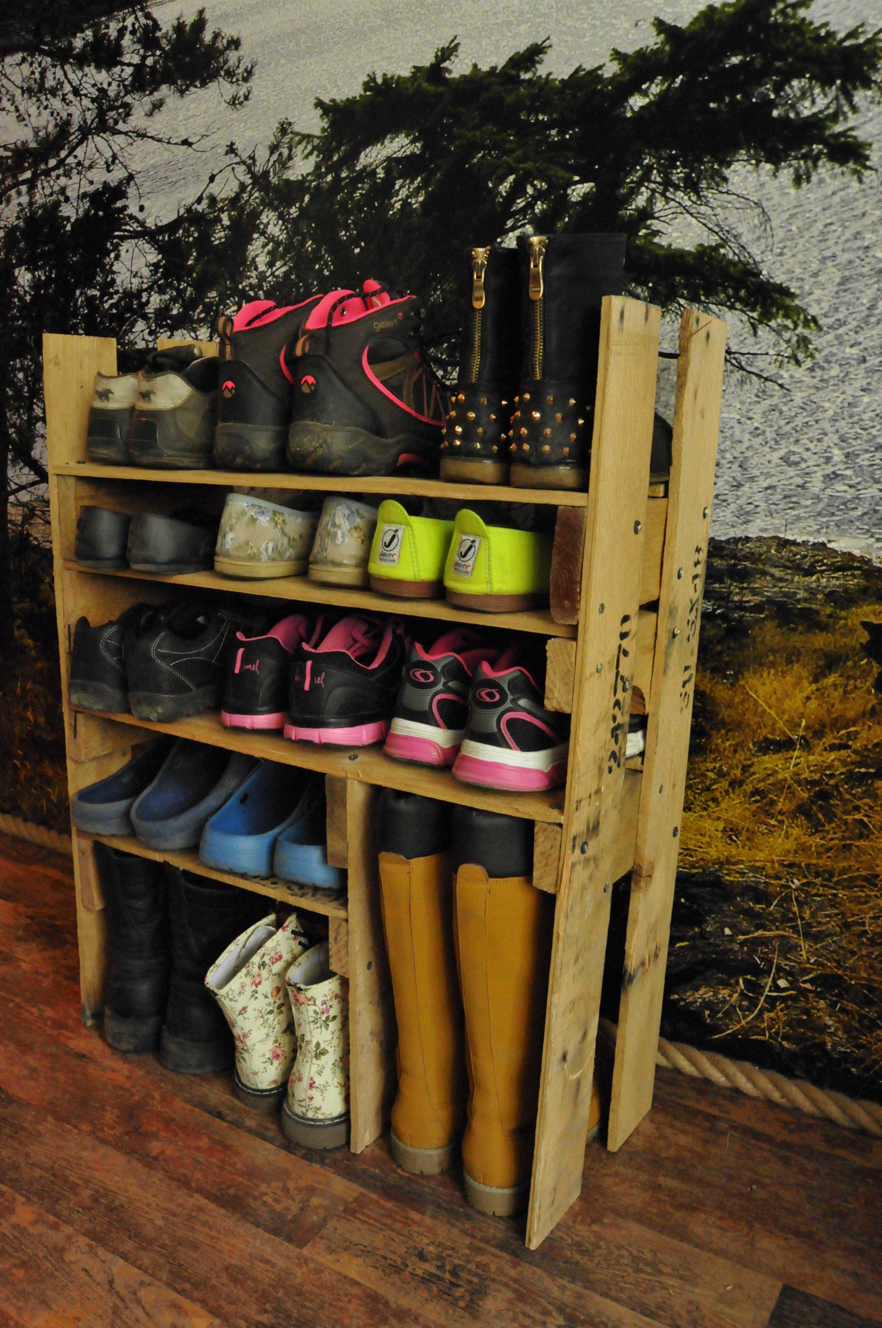 Diy Shoe Shelf From Pallets