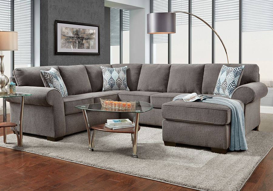 Ashton Grey Sectional With Chaise Living Room Furniture Styles Furniture Affordable Furniture