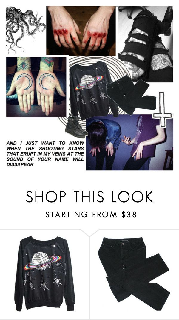 """&& - He starts to notice empty bottles of gin"" by smolturtleprince ❤ liked on Polyvore featuring Marc by Marc Jacobs"