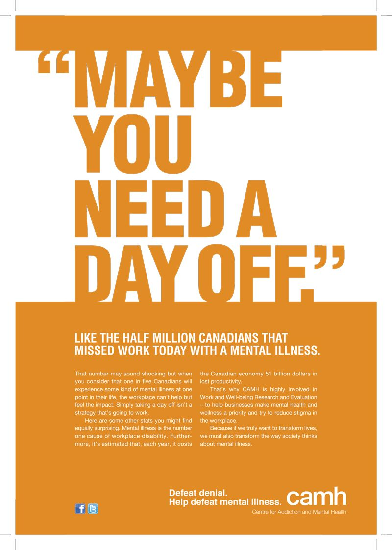 Mental Illness awareness in the workplace from Toronto Life in ...